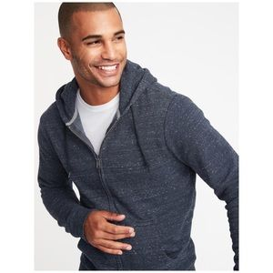 NWT Space-Dyed Soft-Washed Zip-Front Hoodie XXL